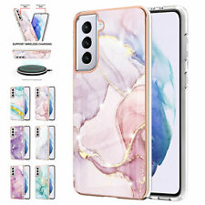 For Samsung Galaxy A02S A11 S20 S21 Gold Glitter Marble Pattern TPU Phone Case