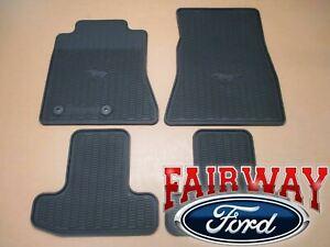 15 thru 20 Mustang OEM Genuine Ford Parts Black Rubber Floor Mat Set 4-pc