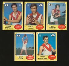 1972 Scanlens South Melbourne Swans Team Set 5 cards