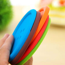 New Hot Silicone Placemat Button Coasters Tea Cup Cushion Mug Cup Holder Mat Pad