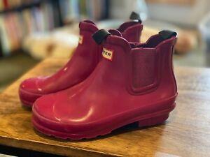 Hunter- Girls Violet Short Rain Boots- ADORABLE-Size 1