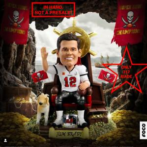 Tom Brady 7x Super Bowl Champ Thematic Throne Bobblehead IN HAND Ltd Ed 312 NIB!