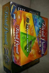 Lot of 2 TRIVIAL PURSUIT games  20th ANNIVERSARY EDITION & Junior 4th edition