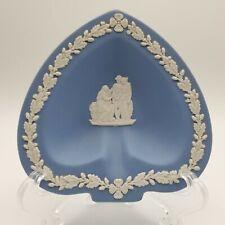 Wedgwood Blue Jasperware Spade Ashtray Trinket Dish