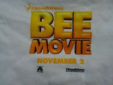 BEE MOVIE promotional t shirt promo NEW UNWORN Small S NWOT Bumble Bee promo