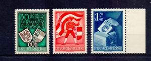 AUSTRIA 1950 PLEBISCITE SET ( 3 ) MNH CAT £180