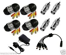 60ft Premium Quality Easy Install Cable Set (4pk) for Night Owl Cameras