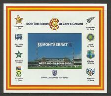 MONTSERRAT 2000 LORD'S CRICKET 100th CENTENARY TEST MATCH Souv Sheet MNH