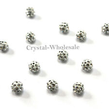 Crystal (001) clear Swarovski becharmed 86001 4mm Pave Ball Beads 2 pcs