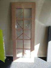 HUME 10 LIGHT SOLID TIMBER DOOR ~ UNGLAZED ~ PRECUT TIMBER INSERTS INCLUDED