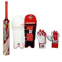 Trainer Cricket Wooden Set Junior Kashmir Willow Bat For Kids 7-8 Yr Children