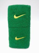 """Nike Swoosh Wristbands Pine Green/Tour Yellow 3"""" Men's Women's"""