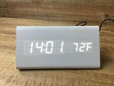 King Do Way Alarm Clock White Wood