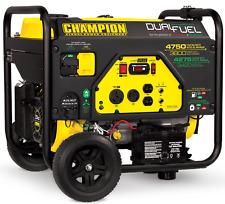 76533R - Champion 3800/4750w Dual Fuel Generator, electric start - REFURBISHED