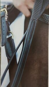 EcoRider Biogrip Flexi Reins. Finest quality leather & soft pimple rubber grip.