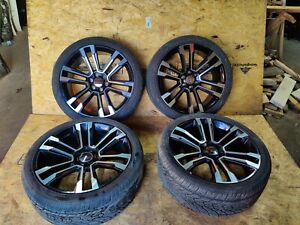 "⭐ Cadillac Escalade Yukon Tahoe 24"" Black Front & Rear Rims Wheels Tires Set"