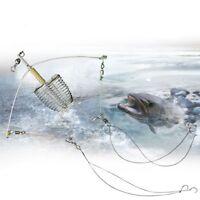 Automatic hook fishing tool lazy alarm double hook fishing equipment