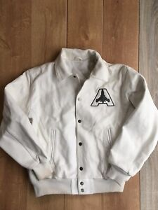 AVIREX USA White Leather Jacket Size L