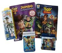 Lot 5 Disney Toy Story 4 Coloring Activity Book Sticker Crayons/Paint Cards Kids