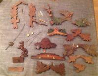Antique Cuckoo Clock Case Parts Cuckoos Pendulums Dial Face Job Lot