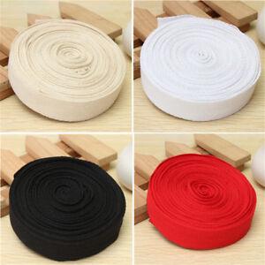 5 ~10M Cotton Webbing Herringbone Twill Tape Strap 25mm DIY Apron Bunting