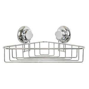 Compactor Bestlock Suction Corner Shelf (Black or Silver)