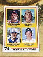 Vintage 1978 Topps #703 JACK MORRIS RC Tigers Twins Blue Jays P HOF RARE NrMt/Mt