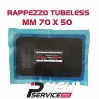 Rappezzo 70 x 50 mm per riparazione pneumatico tubeless autocarri AUTO furgoni