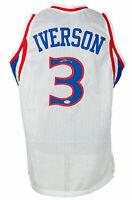 Allen Iverson Signed Custom White Pro Style Basketball Jersey PSA/DNA