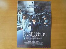 DEATH NOTE Light up the NEW world MOVIE FLYER Mini Poster Chirashi Japan 28-7-1