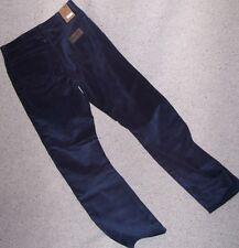 WRANGLER Jeans TEXAS VELLUTO coste 1000 righe BLU Tg.W42/L34