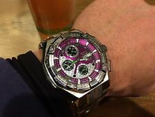 RENATO MOSTRO PURPLE 7750 VALJOUX SWISS AUTOMATIC CHRONOGRAPH WATCH L.E. 50