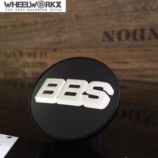 Original BBS Emblème jantes Couvercle moyeu noir argent 56 mm Chrome 0924257