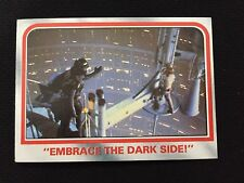 "STAR WARS 1980 ""EMBRACE THE DARK SIDE"" EMPIRE STRIKES BACK TOPPS TRADING CARD"