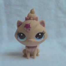 LITTLEST PETSHOP LPS #3515 HASBRO CAT CHAT MAINE COON ROSE CUSTOM YEUX BLEU