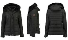 Geographical Norway Dionysos Lady Short Parka / Black UK 18 Brand New With Tags