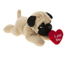 Valentines Pug Soft Plush Toy Dog Laying With Love You Heart 23cm Gift 441554