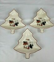 Masons Christmas Village Ironstone Tree Dish Set Of 3 Made In England 1983