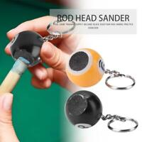 Portable Billiard Rod Tips Ball Shaper Pool Keychain Ball Cue Tips Sander Tools