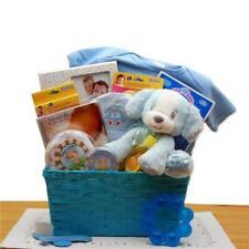Gbds 890752-B Puppy Love New Baby Gift Basket - Blue
