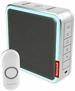 Honeywell Home DC917NG Series 9 Portable, Wireless LED Doorbell with Push Button