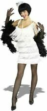 1920s White Flapper Girl Ladies Fancy Dress 20s Charleston Gastby Adults Costume