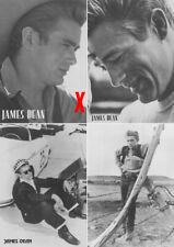 JAMES DEAN SET-OF4 BLACK & WHITE POSTCARDS