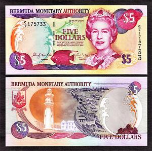 Bermuda $5 QEII 24.5.2000 Pick-51a GEM UNC