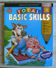 NEW! American Education Publishing TOTAL BASIC SKILLS gr. 1/1st w/stickers & key