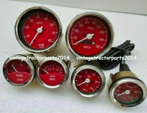 Smiths Replica 52mm Kit- Temp + Oil + Fuel + voltGauge+ Speedo+ Tachometer 85 mm