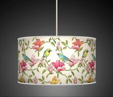 BIRDS FLORAL PINK GREEN  HANDMADE LAMPSHADE CEILING TABLE FLOOR LAMP 939
