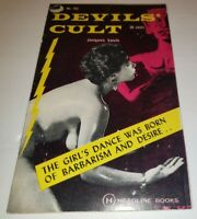 Devil's Cult Pat Hall Pin-Up Cover Vintage Sleaze GGA Paperback 1960 Pagan Idol