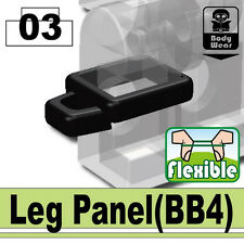Leg Panel (W112) tactical knife holder compatible with toy brick minifigures