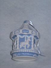 Wedgwood 2015 Baby's Firsst Carousel Ornament - Blue/White JasperWare - NIB